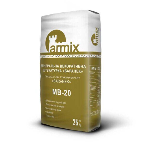 Штукатурка-баранек-Armix-MB-20